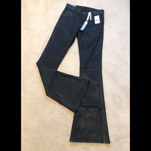 J Brand Black Japanese Luxe Twill Wax Coated Jeans